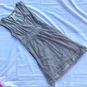 EUC Max Studio Gray lace dress